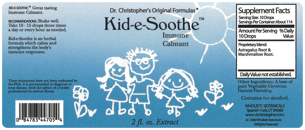 Kid-e-Soothe Extract Label
