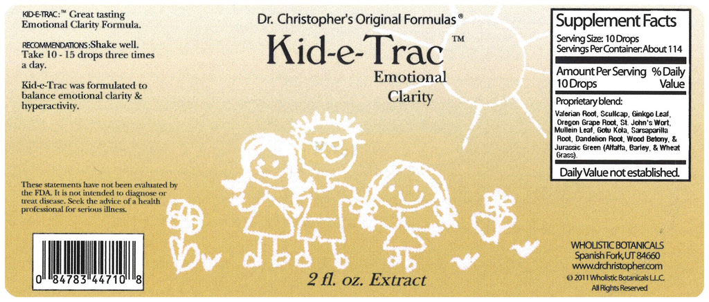 Kid-e-Trac Extract Label
