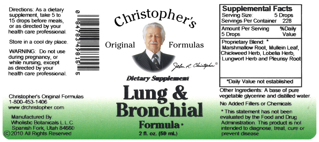 Lung & Bronchial Extract Label