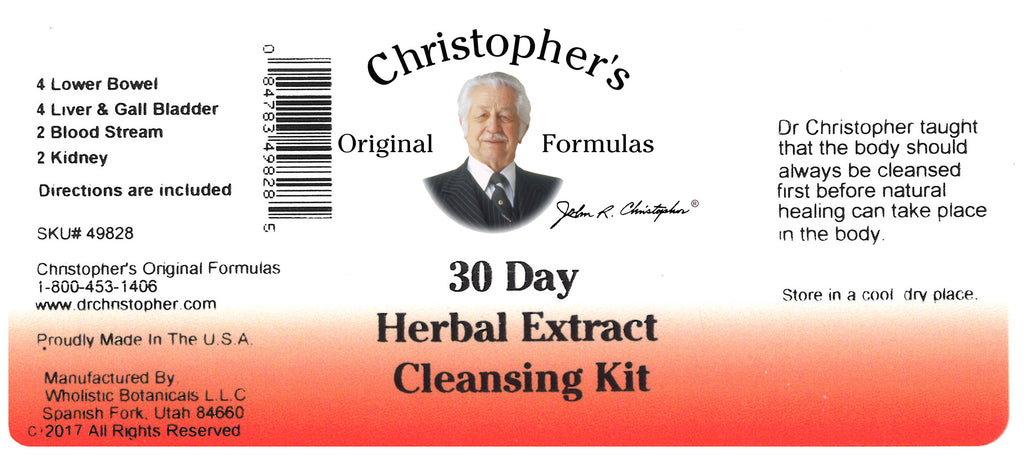 Herbal Cleansing Extract Label