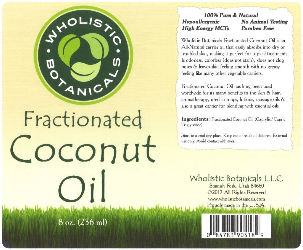 Fractionated Coconut Oil Label