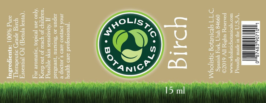 Birch Essential Oil Label