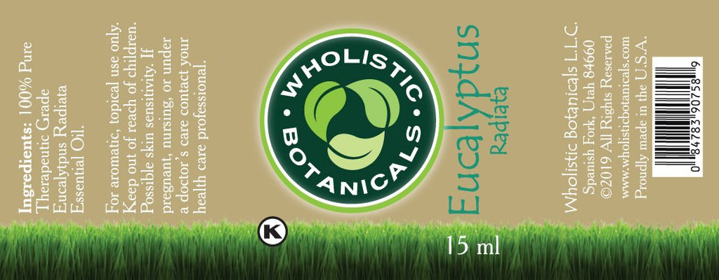 Eucalyptus Radiata Essential Oil Label