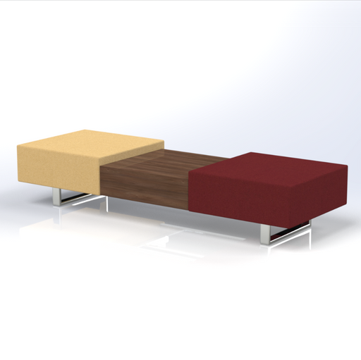 Ethan 2-Seat Bench with Coffee Table