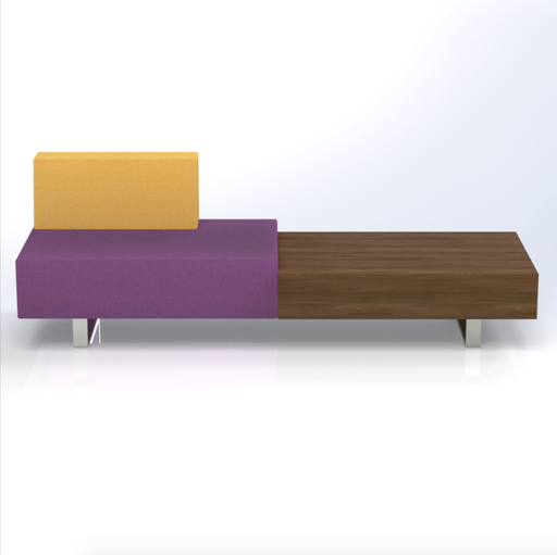 Ethan 1.5 Seat Sofa with Coffee Table