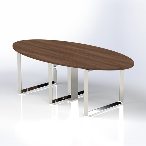 Diamond Oval Meeting Table for 8