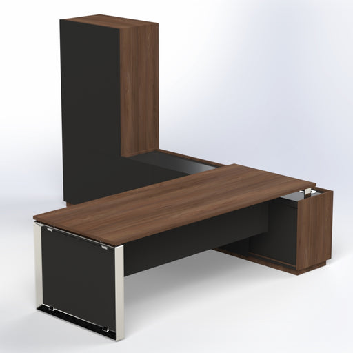 Elite Desk with Credenza & Cabinet