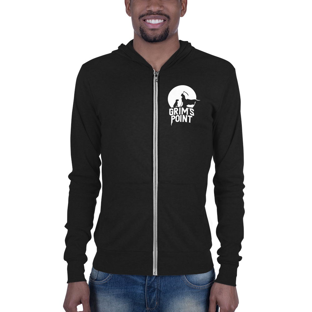 Reaper Zip Up (White Logo)