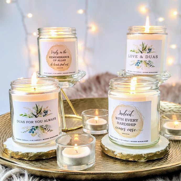 Our Newest Product Line: Islamic CANDLES!