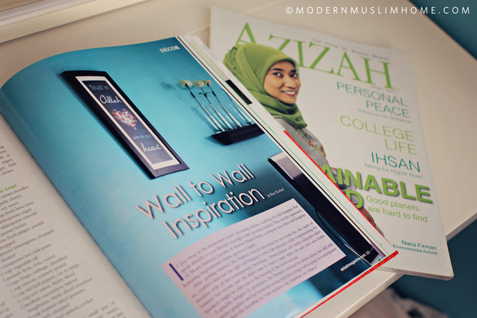 Modern Muslim Home Featured in Azizah Magazine