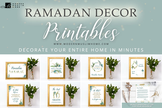 Ramadan Decor Printables! Quick & Easy Ramadan Decor