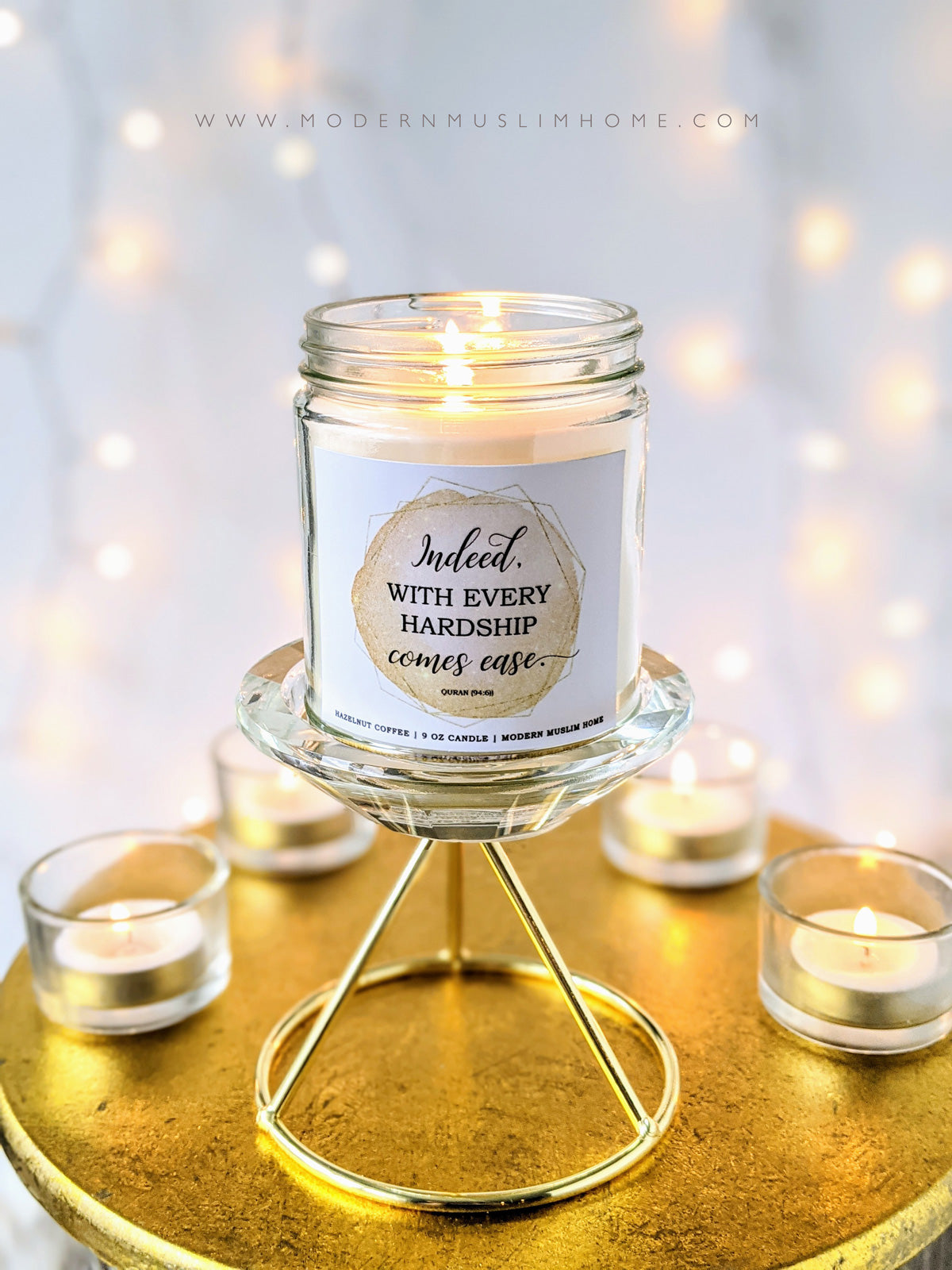 After Hardship Comes Ease Candle
