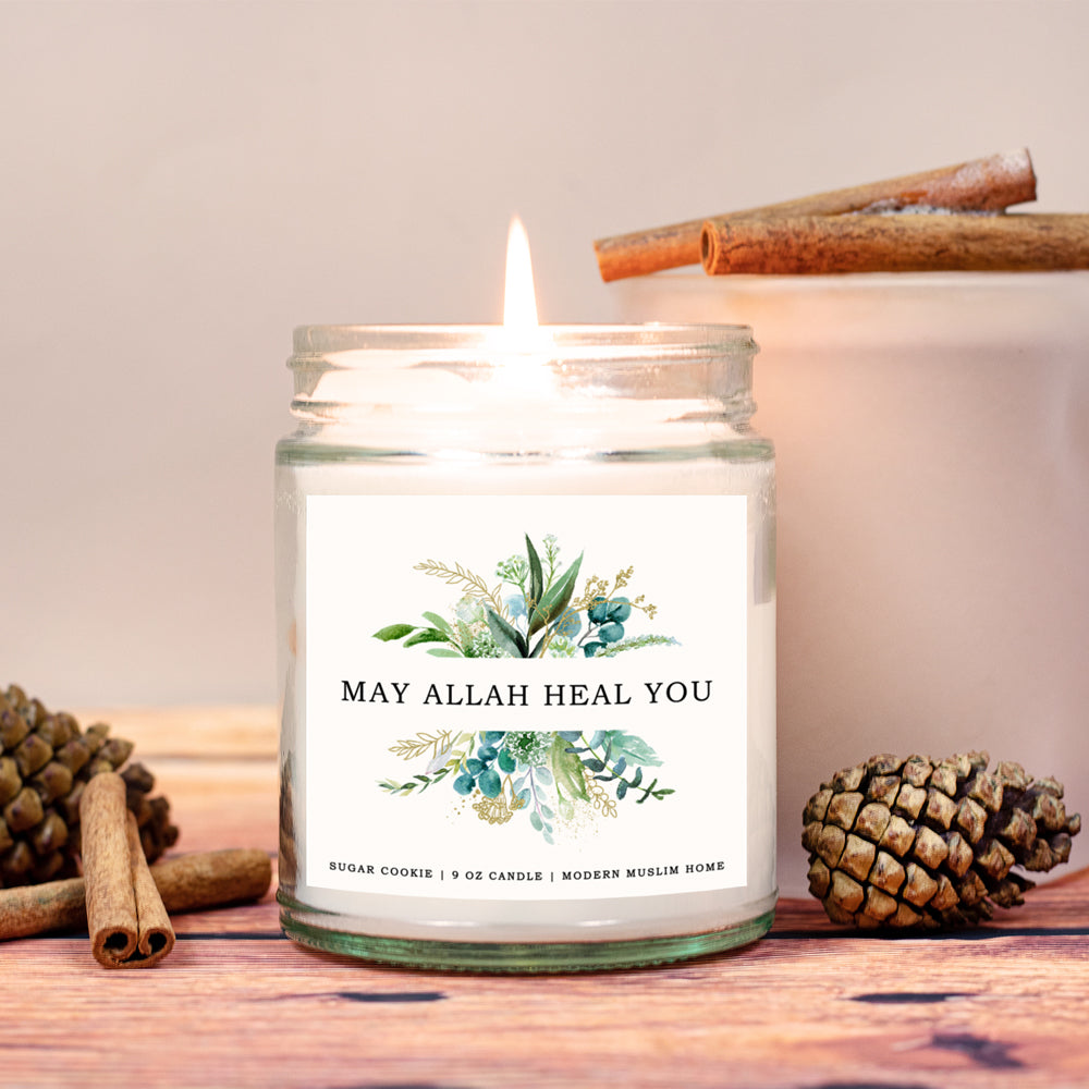 May Allah Heal You Candle | Modern Muslim Home