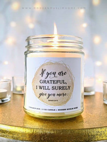 Gratefulness Candle