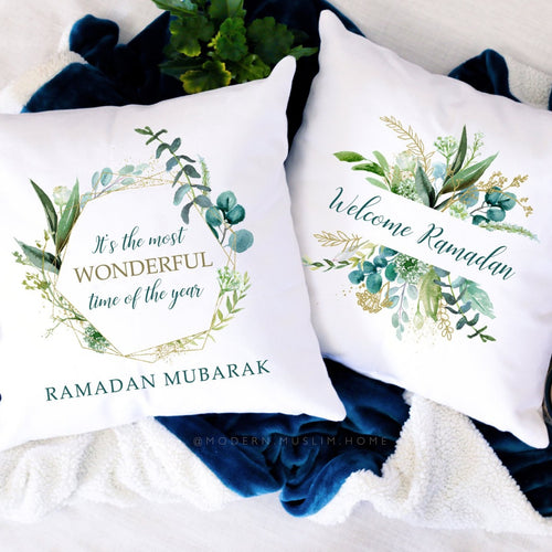 Ramadan Mubarak & Welcome Ramadan - 2 Pillows BUNDLE