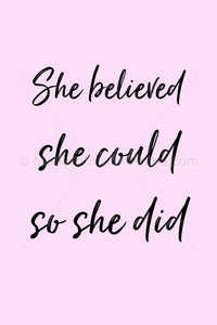 She Believed She Could [Instant Download]