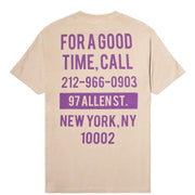 "THE GOOD COMPANY-""GOOD TIME T-SHIRT""(SAND/ PURPLE)"
