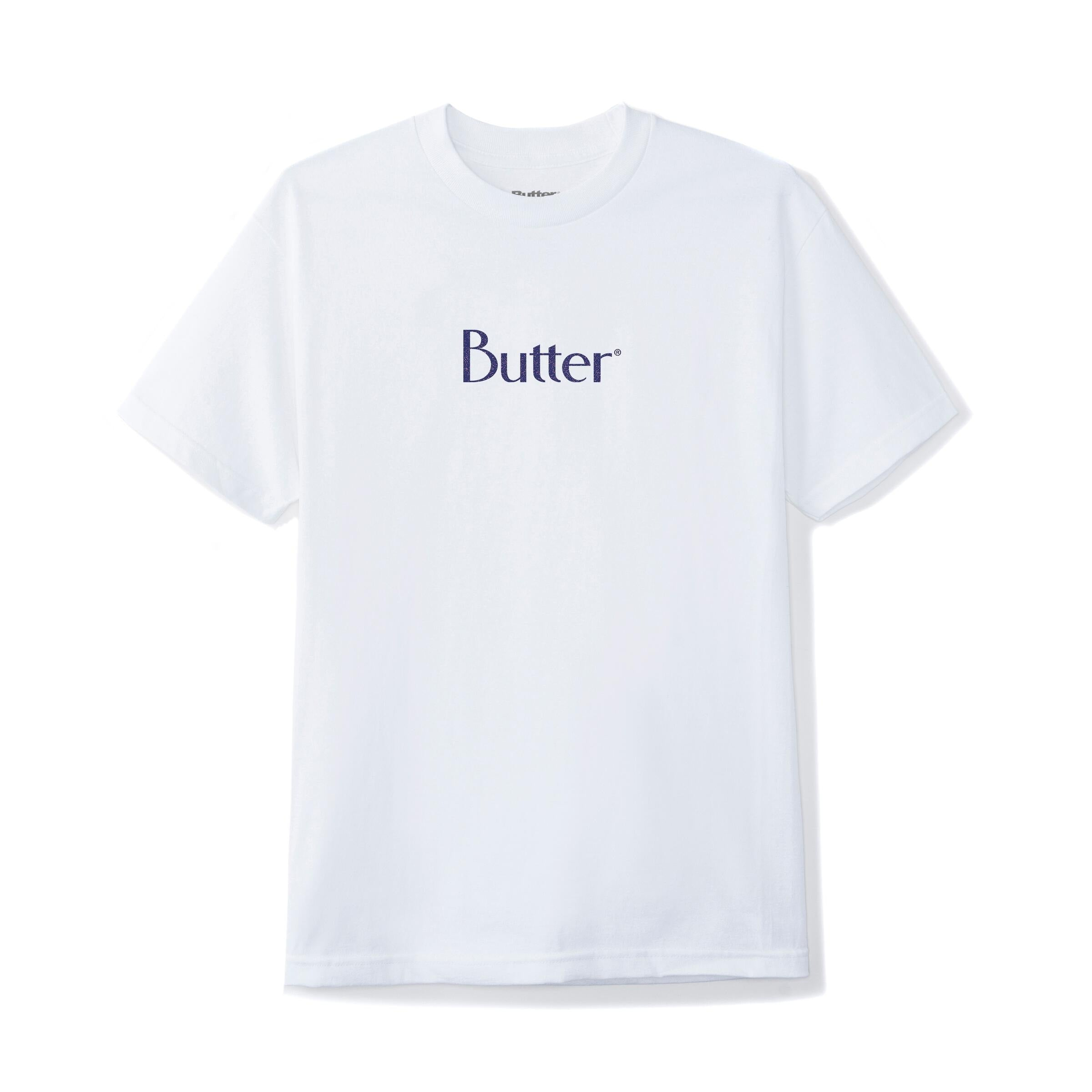 BUTTER GOODS SPECKLE LOGO TSHIRT WHITE