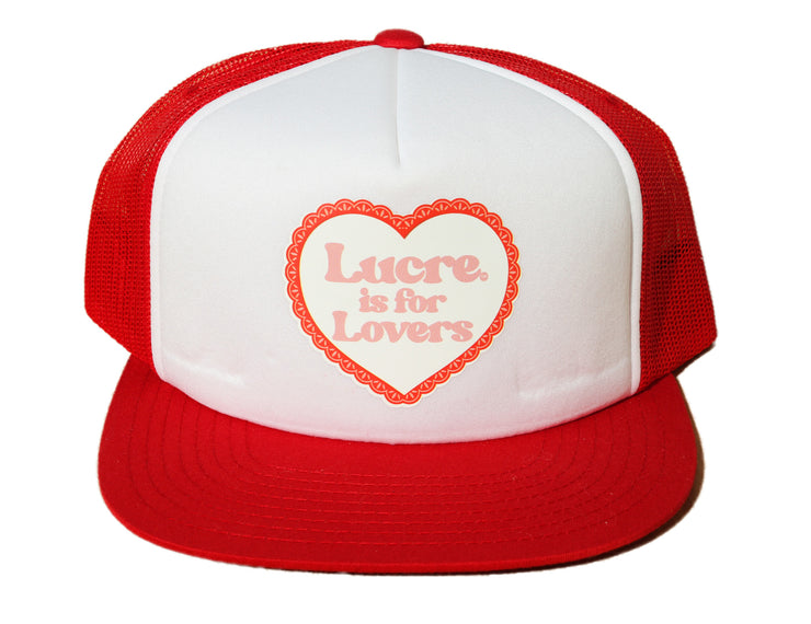 "LUCRE- ""LOVERS TRUCKER HAT""(RED)"