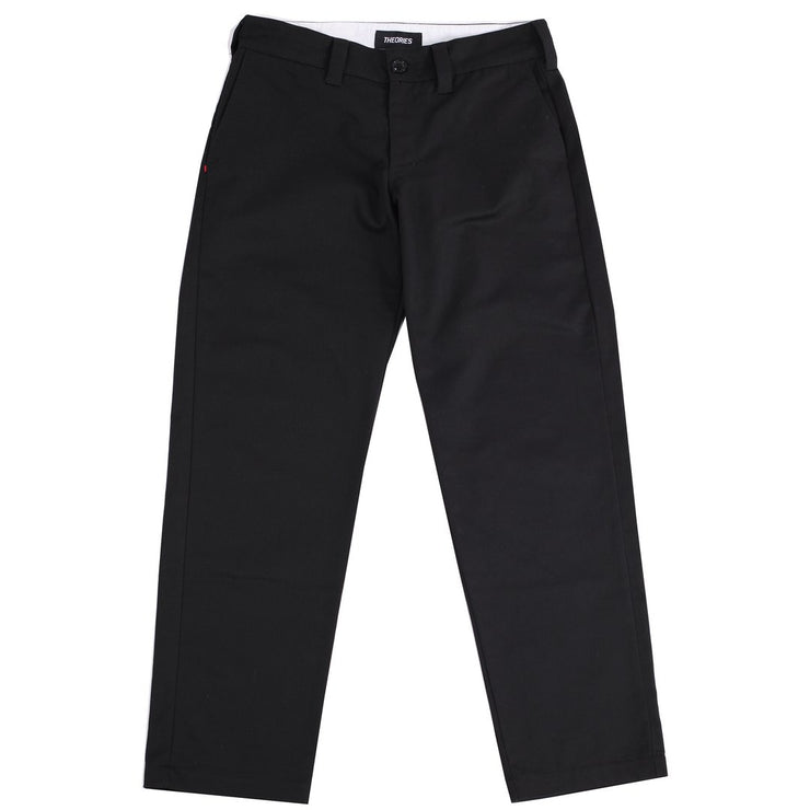 "THEORIES-""STAMP WORK PANT""(BLACK)"