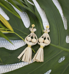 Cocos y Palmas Natural Earrings
