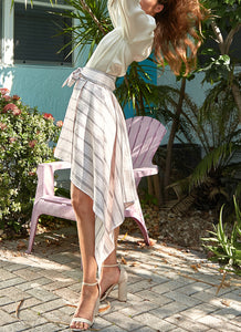 Isla Linen Stripe Skirt