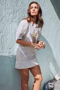 Satcha Linen Stripe Dress