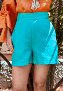 Kiara Waistband Bright Teal Shorts