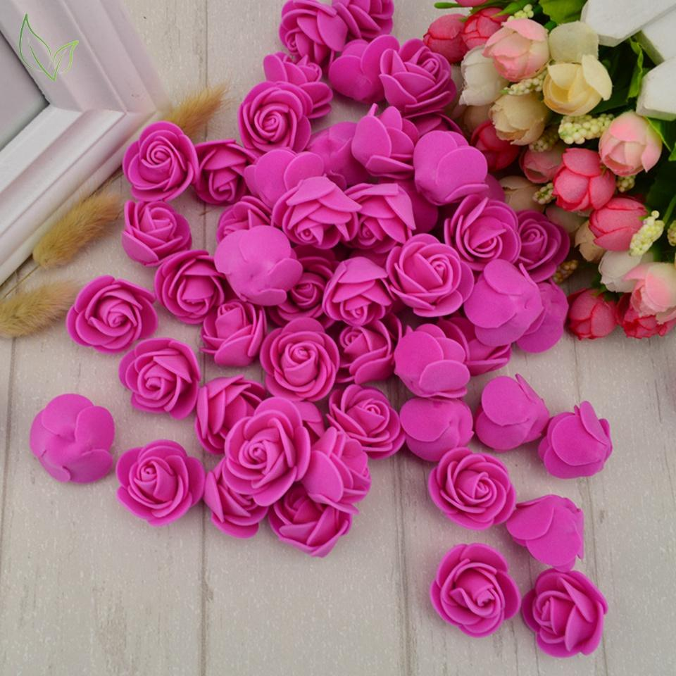 100pcs Pe Foam Fake Flower Roses Bhetvastu