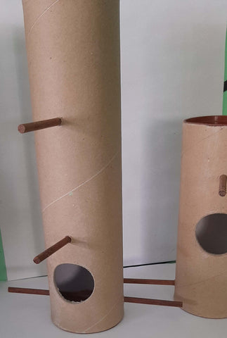 Recycled Poster Tubes Repurposed as Nesting Boxes