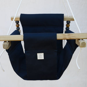 CANVAS MATERIAL BABY SWING NAVY