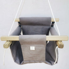 CANVAS MATERIAL BABY SWING GREY
