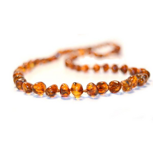 Baltic Amber Teething Necklace - Cognac