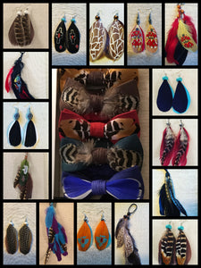 Feather accessories for men and women