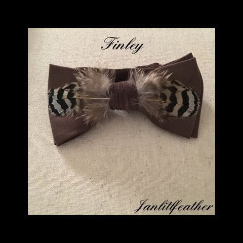 Finley Brown Micro-Suede Bow Tie