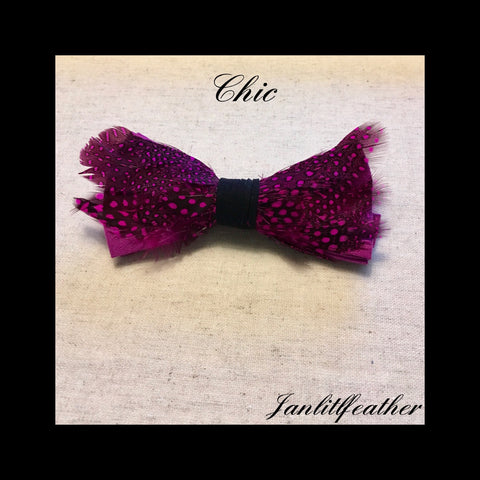 Chic Feather Bow Tie