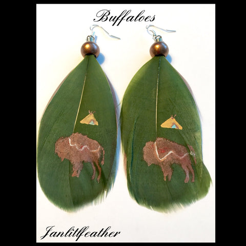 Buffalo Earrings