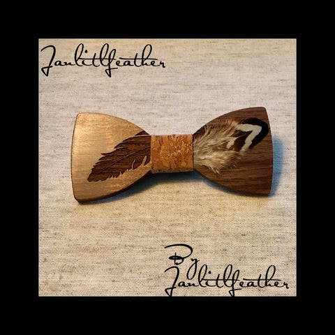 Janlitlfeather Wood Bow Tie