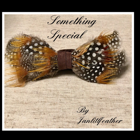 Something Special Feather Bow Tie