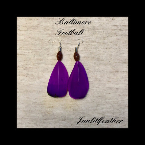 Baltimore Football Earrings