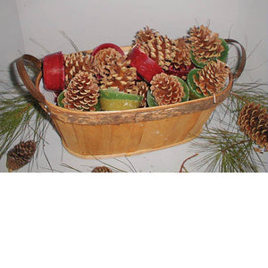 Cone Starters in Oval Wood Basket