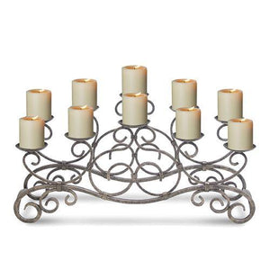 Brighton Candelabra - Holds 10 Candles (Not Included)