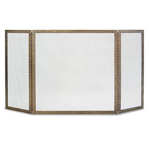 3 Panel Bay Branch Embossed Screen - McCready's Hearth and Home