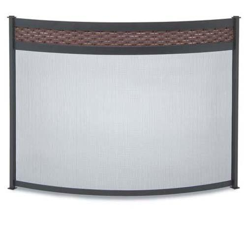 Bowed Basket Weave Screen