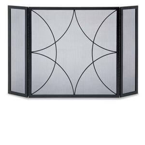 3 Panel Forged Diamond Screen - McCready's Hearth and Home