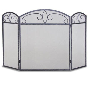 3 Panel Forged Crest Screen - McCready's Hearth and Home