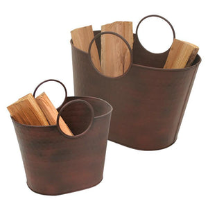 Kendell Wood Holder Tubs - Set of 2 - McCready's Hearth and Home