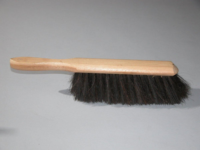 Counter Duster Brush - Soft Natural Black Bristle With Wooden Handle