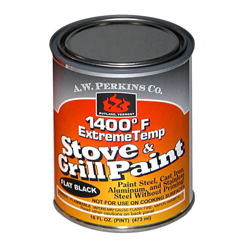 1400ºF Stove Paint Brush On - Flat Black