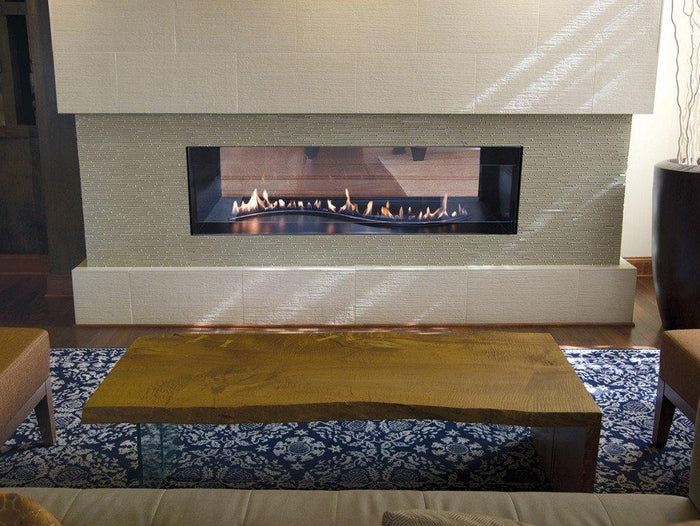 "48"" Boulevard Vent Free See Thru Fireplace With IPI Serpentine Burner"
